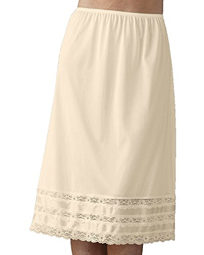 Velrose Snip-it Half Slip (2702), Beige, Medium (Slip Silk Half)