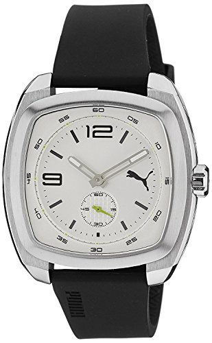 PUMA Time Roadster Silver dial black strap PU103081002 men's [regular imported goods]