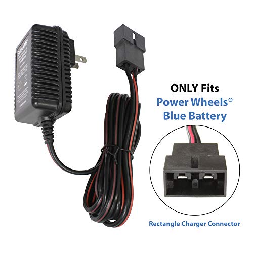 SafeAMP 6-Volt Charger for Fisher-Price Power Wheels Toddler Blue Battery Blue Paw Paw Tracks