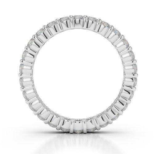 Or blanc 18carats 1CT G-H/VS sertie de diamants ronds Cut éternité Bague Agdr-1111