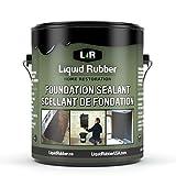 Liquid Rubber Foundation Sealant, Black 1 Gallon