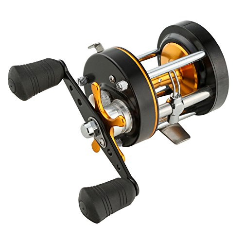 - Palm Fishing Round Baitcasting Reel - Full Metal Reel - Carbon Fiber Star Drag - Conventional Reel Inshore and Offshore Saltwater and Freshwater Reel (50 Right Handed)