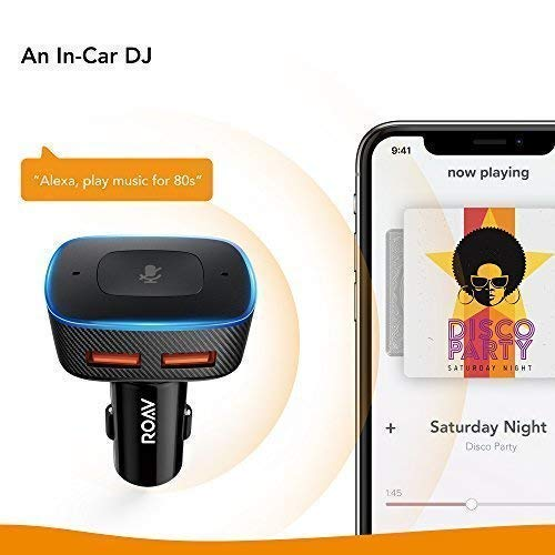 Roav VIVA Pro, by Anker, Alexa-Enabled 2-Port USB Car Charger for Navigation, Hands-Free Calling, and Music. For Cars with Bluetooth/CarPlay/Android Auto/Aux-In/FM Reception by Roav (Image #5)