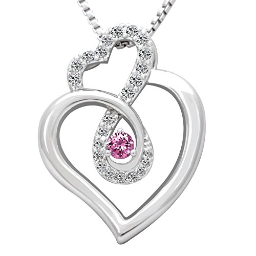 Birthstone Rose (Birthday Gifts Infinity Endless Love October Birthstone Necklace Jewelry for Women, Girls Her Sister Mom Mother Wife Girlfriend Grandma Friendship, Valentine's Day, Mother's Day, Christmas (Rose))