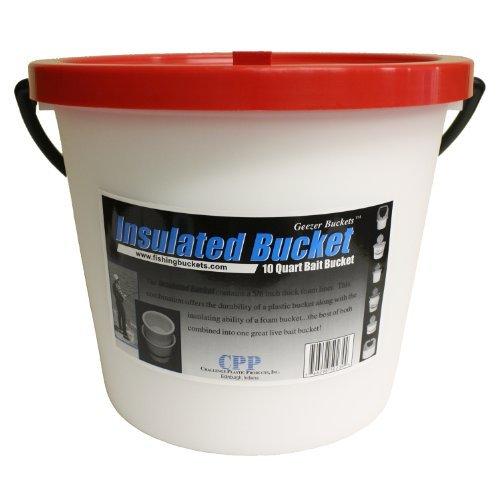 10 Qt Bait Bucket (Challenge 50179 Live 10 Quart Bait Bucket-1 Piece,)