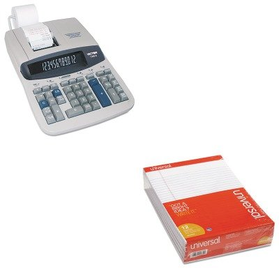 KITUNV20630VCT15606 - Value Kit - Victor 1560-6 Two-Color Ribbon Printing Calculator (VCT15606) and Universal Perforated Edge Writing Pad (UNV20630) by Victor