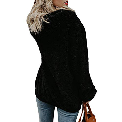 Shirt Capuche Veste Face AIMEE7 Chaud Tops Noir Femmes Peluches Manteau Sweat Double pgAqYg