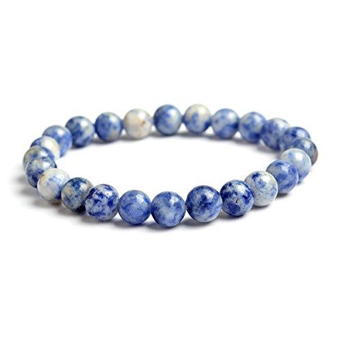 nice QIHOO Handmade Men Women Natural Gemstone Healing 8mm Beads Stretch Bracelet save more