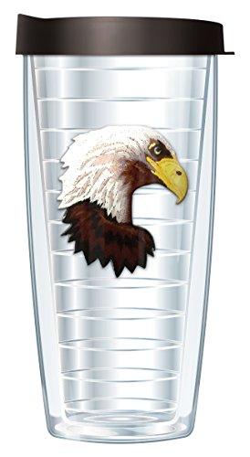 16 Ounce Traveler Mug (Eagle Emblem Traveler 16 Oz Tumbler Mug with Lid)