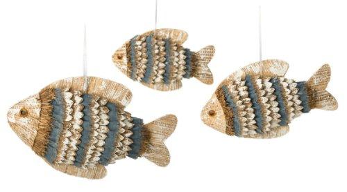 Boston International Shore Thing Collection Hanging Fish, Set of 3