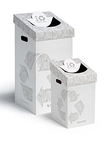 Mattiussi Ecologia S.p.A. CART-ONE 70 litri: contenitore in cartone per la raccolta differenziata (5 pezzi, bianco)