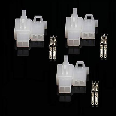 Terminal 2.8mm Auto Moto Scooter 4 Voies Lot de 3 Kit Mini Connecteur /électrique 2//3//4//6//9 Voies