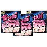 Trolli, Strawberry Puffs, Gummi Candy, 3.5oz Bag (Pack of 3)