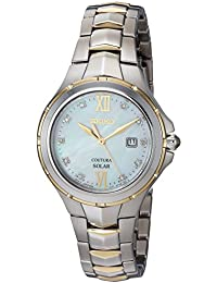 Women's Quartz Stainless Steel Casual Watch, Color:Two Tone (Model: SUT308)