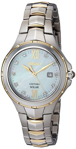 Seiko Coutura Ladies (Seiko Women's Quartz Stainless Steel Casual Watch, Color:Two Tone (Model: SUT308))