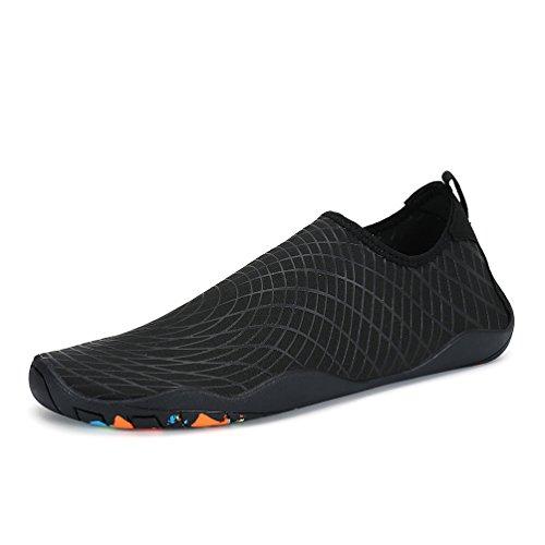 Playa De Affinest Agua Color Piscina Respirable Water Natación Calzado Unisex Zapatos Shoes Soles Secado Rápido b Negro Hombre REqwAZq