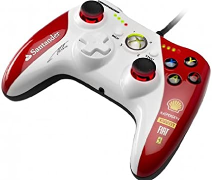 Thrustmaster GPX LIGHTBACK FERRARI F1 EDITION - Gamepad - Xbox360 / PC - Dos motores de vibración e Indicador de velocidad - Licencia Oficial Ferrari