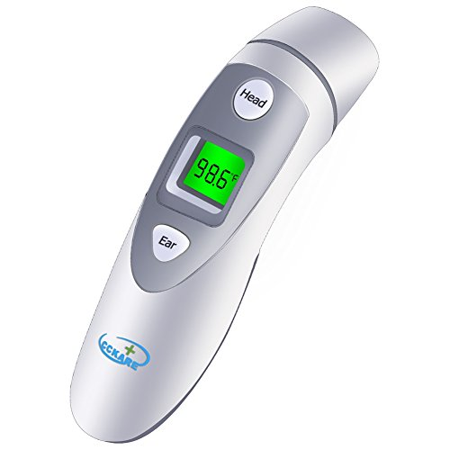 Ear Forehead Thermometer, Infrared Thermometer with Digital Function for Baby, Toddler and Adults, FDA and CE Approved