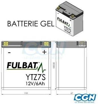 Batterie YTZ7-S 12V 6Ah Steco Power