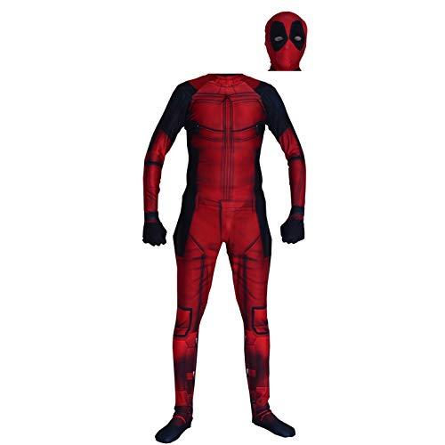 Fargone Kids Cosplay Into The Deadpool Verse Costume Full Coverage Zentai Suit S 120cm -