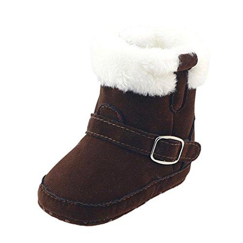 Huhu833 Kinder Mode Baby Stiefel Soft Sole, Keep Warm Schnee Stiefel, Kleinkind Stiefel Warm Schuhe (0-18 Month) Kaffee
