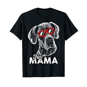 Mens Cute Great Dane Fur Mama T-Shirt 2XL Black