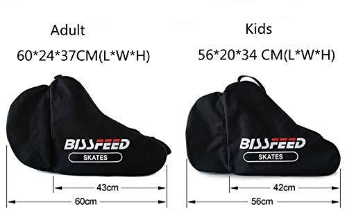 Bolsa de Transporte para Patines de Hielo y Patines para ni/ños y Adultos YJZQ Bolsa de Tela Oxford 600D Impermeable para ni/ños y Adultos