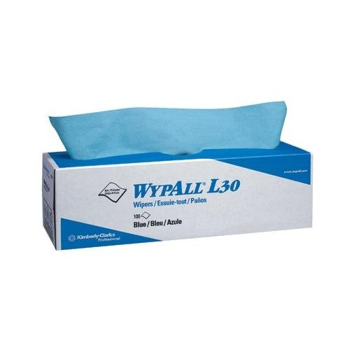 Kimberly-Clark WypAll L30 Wipers - wypall l30 economizer wipers blue 8 boxes/case