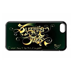 Gators Florida USA Music Band Series-6 Sleeping With Sirens Print Black Case With Hard Shell Cover for Apple iPhone 5C