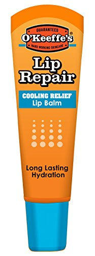 O'Keeffe's Cooling Lip Repair Lip Balm for Dry, Cracked Lips Tube .25 oz