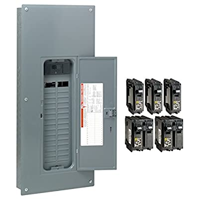 Square D by Schneider Electric HOM3060M200PCVP Homeline 200 Amp 30-Space 60-Circuit Indoor Main Breaker Load Center with Cover - Value Pack (Plug-on Neutral Ready), ,