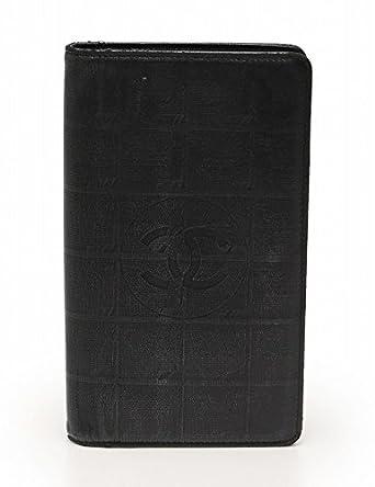 acf3662add8f Amazon.co.jp: (シャネル) CHANEL ニュートラベルライン 長財布 二つ折り ココマーク レザー 黒 中古: 服&ファッション小物