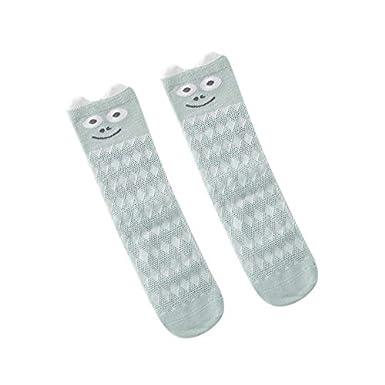 YICANG Calcetines hasta la rodilla de dibujos animados para beb/és Calcetines de algod/ón para reci/én nacidos Calcetines de piso para ni/ños peque/ños para 0-5 a/ños
