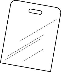 Professional Acrylic Folding Board - Clear- Box of 6