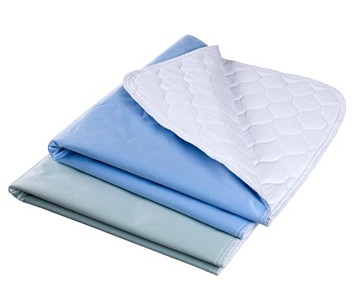 "Waterproof Reusable Incontinence Bed Pads Washable Incontinence Underpads 8 Cups Absorbency, 2 Pack Non-Slip Mattress Protector for Adults, Kids and Pets(28""X 36"" inch)"
