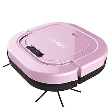 MIAO@LONG Robot Aspirador Limpiador Hogar Automático Limpieza Cepillo De Doble Cara Succión De Barrido De Una Máquina 2200Mah Batería,Pink: Amazon.es: Hogar