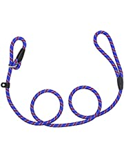 Dog Slip Rope Leash, Sweeethome Rope Lead for Pet, Adjustable Pet Leash Strong Dogs Training Leash Climbing Dog Rope Leash, 5 FT Nylon Leash for Dog Training Leash Small and Medium GOG Leash (Blue)