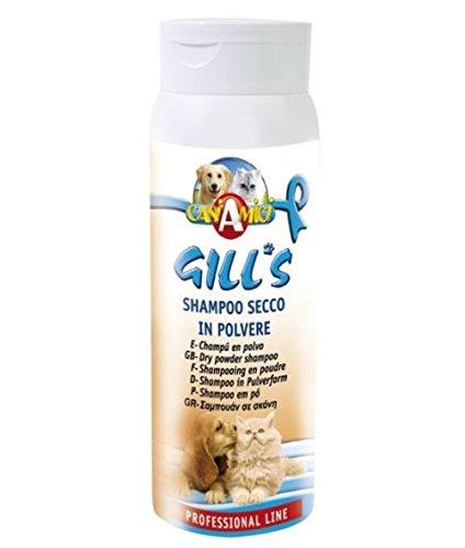 Gills Shampoo seco en polvo-perro o gato Ideal para los animales que no quieran