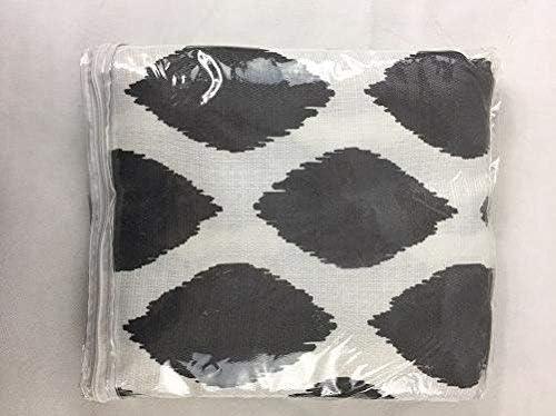 BHG Grey Ikat Diamond 52x84 Panel