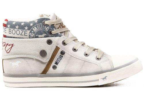 Mustang Shoes Damen Schuhe Top High Sneaker ice 40