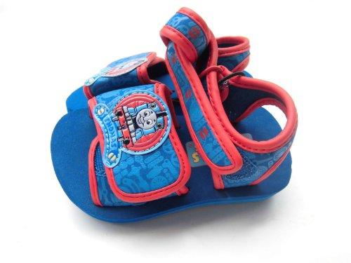 Thomas & Friends - Sandale - Kleinkind - Baby - blau mit rot abgesetzt - Klettverschluss - Gr. ca. 21 - aus USA