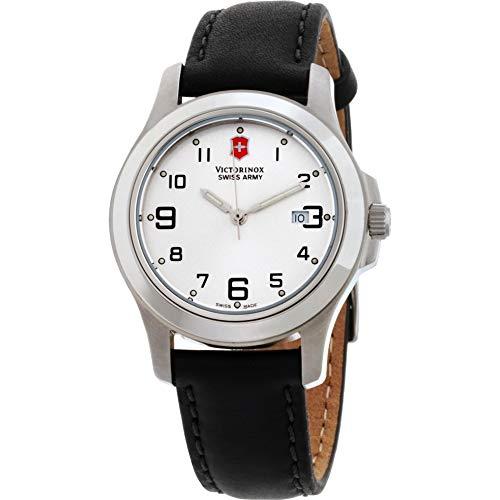 Victorinox Garrison Elegance Silver Dial Leather Strap Ladies Watch 241388CB