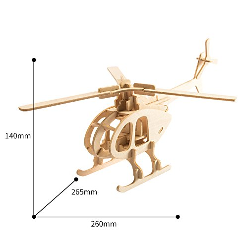 hot sale 3D Wooden Puzzle Helicopter Model Creative Puzzle