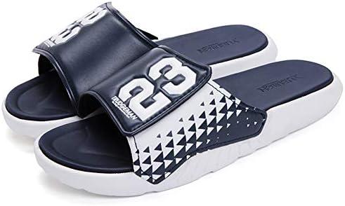 41XEtEnZpuL. AC Men's Athletic Adjustable Slide Sandals with Velcro Lightweight Comfort Slip On Sport Slippers    Product Description