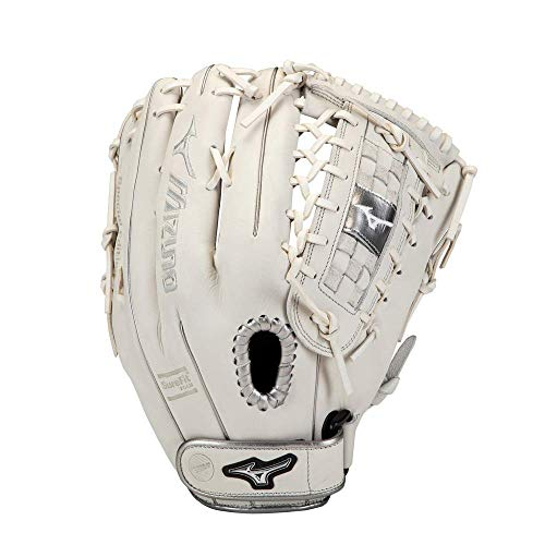 "Mizuno GMVP1300PSEF8 MVP Prime SE Fastpitch Softball Glove 13"", Right Hand Throw, WHITE-SILVER"