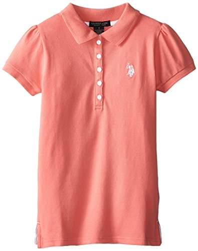 us-polo-association-big-girls-puff-sleeve-pique-polo-shirt-shell-pink-12-14