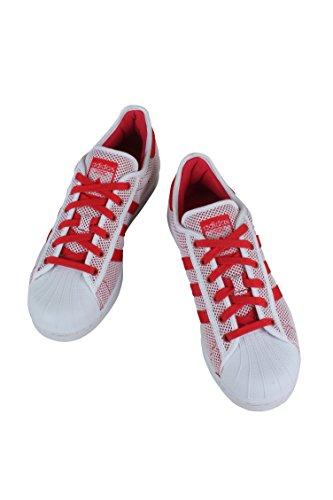 Adidas Originaler Menns Super Adicolor Mote Sneaker Hvit / Kollegialt Rød / Hvit
