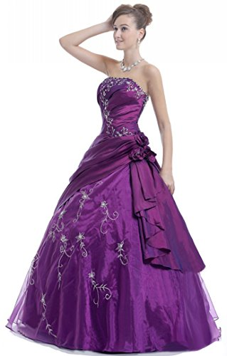 Lila Abendkleid trägerlosen Faironly Frauen M37 zwgpO0qP6