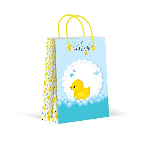 Premium Duck Party Bags, Party Favor Bags, New, Treat Bags, Gift Bags, Goody Bags, Party Favors, Party Supplies, Decorations, 12 Pack