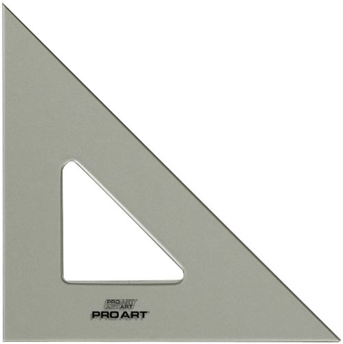 - Pro Art 12-Inch 45/90-Degree Triangle, Smoke